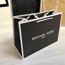 MICHAEL KORS Mens 38x28x16.5cm BLACK Shopping Paper Carrier Mens Gift MK Bag NEW