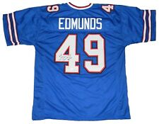 TREMAINE EDMUNDS AUTOGRAPHED SIGNED BUFFALO BILLS #49 BLUE JERSEY JSA