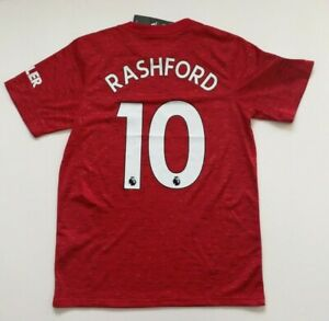 Marcus Rashford #10 Manchester United  Soccer jersey Men's Size L Large.