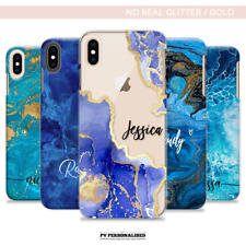 PERSONALISED PHONE CASE INITIALS NAME MARBLE HARD COVER FOR IPHONE 7 8 11 XS MAX