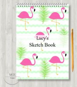 Flamingo Personalised A4 Sketch pad/ Art book/ Drawing Book