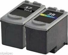 PG37 CL38 BLACK + COLOUR CANON REFILLED INK CARTRIDGES