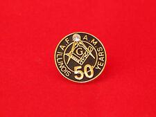 Free Mason Lapel Pin 50 Years Illinios