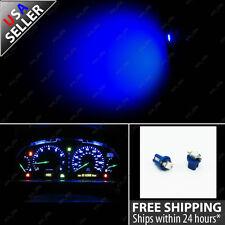 2x Blue T5 Twist Socket 5050 SMD Speedometer Gauge Cluster LED Light Bulb 13 75
