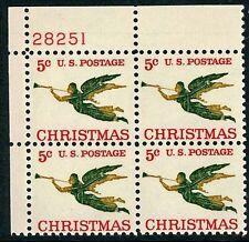 "Scott # 1276a 5¢ Christmas Angel  ""TAGGED""  Plate Block Mint NH"