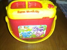 Leap Frog Farm Mash-Up /Animal Matching Game with Bucket with 3 animals