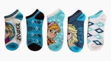 DISNEY Five Pack Of Adult Low Cut Socks NEW wt FROZEN Elsa Anna princess