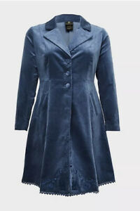 Torrid Disney Princess Cinderella Blue Swing Coat Jacket Size 5/ 5X 28 NWT