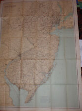 "ANTIQUE MAP OF NEW JERSEY GEOLOGICAL SURVEY 1888 APROX. 26.75""X37"""