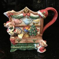 Omnibus By Fitz And Floyd OCI 1996 Christmas Kitchen Mice Decorative Pitcher