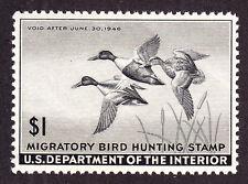US RW12 $1 Duck Hunting Mint XF OG NH SCV $95