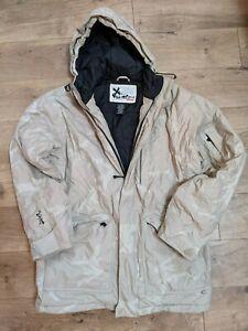 Quicksilver Snow Jacket X-Series Beige/Light Beige Pattern Men's M Excellent