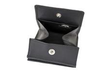 De Vienne Porte-monnaie sac grand petit Compartiment Argent Verse LEAS vraiment-Cuir Noir