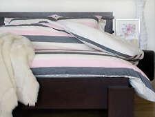 Ardor JASPER Pink Striped 100% Cotton Double Size Quilt Doona Cover Set