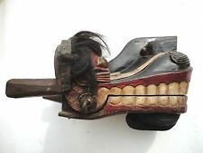 Indonesian hand carving mask  Ethnographic Naga Barong dance  Dragon Head