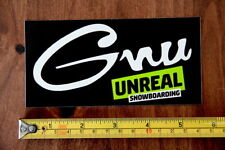 GNU Snowboards STICKER Decal NEW Unreal Green