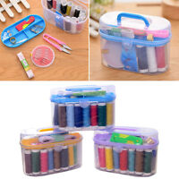 Threader Measure Scissor Needle Thread Tape Thimble Storage Box Sewing_Kit
