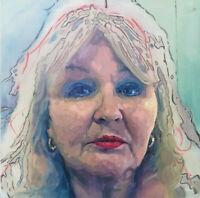 Older Women Female Girl Portrait Face Oil Academic Study Painting Art Student
