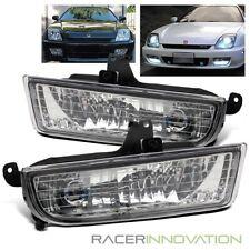 For 97-01 Honda Prelude Clear Glass Lens LH/RH Fog Lights Bumper Driving Lamps