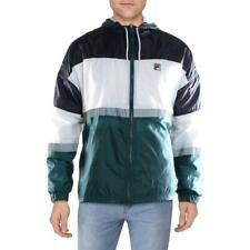Fila Mens Navy Fall Winter Warm Windbreaker Jacket Outerwear L BHFO 9541