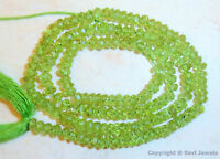 FINE PERIDOT BEADS FACETED HEART 5 MM 7 PCS NATURAL GEMSTONE #D14780