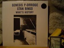 GENESIS P-ORRIDGE/STAN BINGO What's History LP/Throbbing Gristle/Psychic TV/NEW!