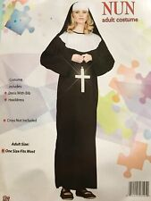 NUN ADULT COSTUME ONE SIZE FITS MOST w/ CROSS RG USA FREE PRIORITY SHIPPING