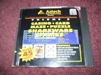 CASINO CARD Shareware Games Volume 5 Aztech New Media Corp. (PC, 1994)