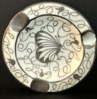 LIMOGES SAINT GRAAL PORCELAIN CHINA, FRANCE ARGENT 980, Butterfly Ashtray