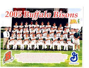 2005 BUFFALO BISONS 8X10 TEAM PHOTO BASEBALL PHILLIPS KINKADE GARKO LUDWICK