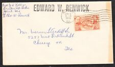sc# 964 on a  Steam Boat Cover from the M/V Edward W.Renwick. to Chicago,Il