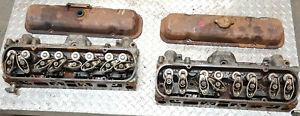 Pair 1981 Turbo Pontiac Firebird Trans Am 301 Cylinder Heads w/ screw in studs