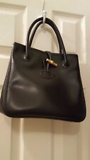 Longchamp small black leather tote bag