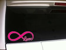 """Pink Infinity Love Symbol Car Decal Vinyl Sticker 7""""x3"""" *A8 Heart Forever"""