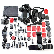 NEW Gopro Accessories Kit 45 Pcs Hero 5 4 3 2 1 Pro Black Silver Sports Camera