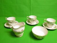 Paragon Enchantment Cups & Saucers x 3 + Milk Jug & Sugar Bowl