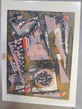 Vintage Modern Abstract Art Alma Goetsch 1956 Signed Screen Print Gay Interest