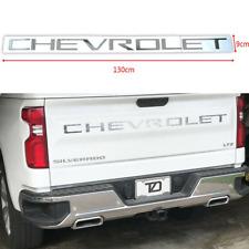 Chrome Sport CHEVROLET Letters Silverado Rear Tailgate Emblem 1500 2500 3500