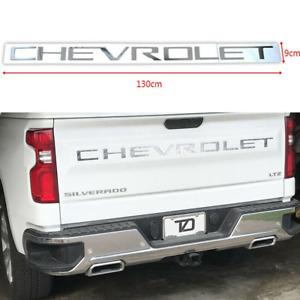 Chrome Sport CHEVROLET Letters Silverado Rear Tailgate Emblem 1500 3500 2500