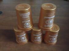 (Lot of 5) Tito's Vodka Copper Plastic Cups 12 oz cups (NEW)