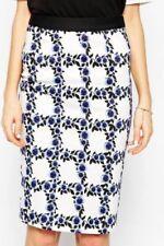 Regular Size Geometric Knee-Length Skirts for Women