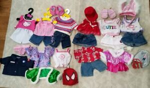 27 Piece Build A Bear Lot jeans skirts shoes Hello Kitty