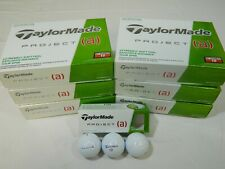 6 Dozen New Taylormade Project (a) a 72 Golf Balls - My Number Golf Balls