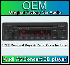 Audi A6 reproductor de CD, unidad de cabeza Audi Concert estéreo del coche se suministra con el código de radio