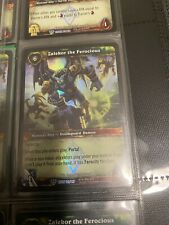 World Of Warcraft WOW TCG Promo Foil Card : Zalekor The Ferocious NM Foil