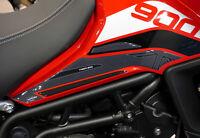 2 protezioni laterali serbatoio moto in gel 3D compatibili Triumph Tiger 900 GT