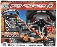 Mega Bloks 95716 Need for Speed Porsche 911 Turbo Lenkrad Launcher 1:55 Auto