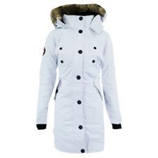 Canada Weather Gear Women's Long Parka Jacket White M