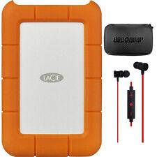 LaCie Rugged Mini USB 3.0 / USB 2.0 4TB Portable HDD w/ Hard Case + Headphone