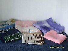 Mixed Lot Of 6 Womens Scarves-Multi-Colored-Lin en, Satin-Italy-Japan